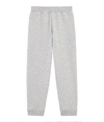 Pantalone bambino in molleton grigio Gris