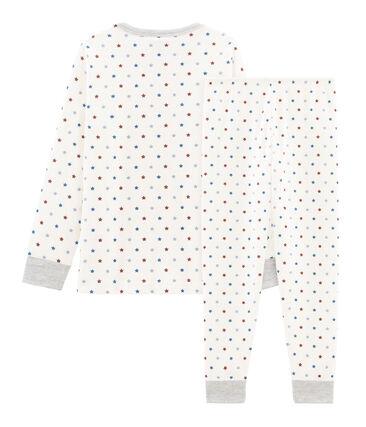 Pigiama bambino in tubique bianco Marshmallow / bianco Multico