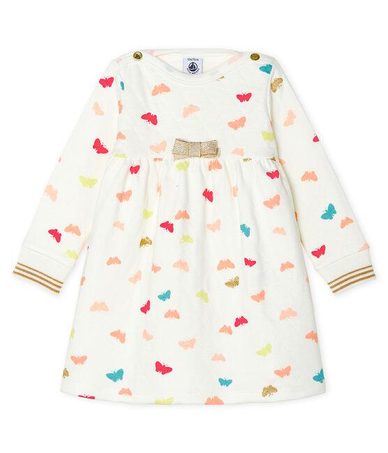 Abito a maniche lunghe da bebè femmina fantasia bianco Marshmallow / bianco Multico