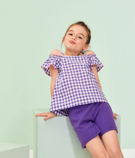 Camicetta bambina viola Real / bianco Marshmallow