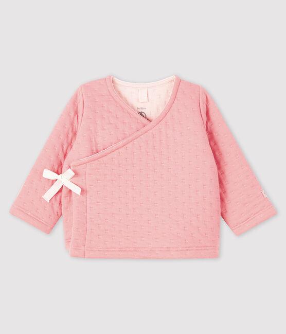 Cardigan neonata in tubique rosa Charme