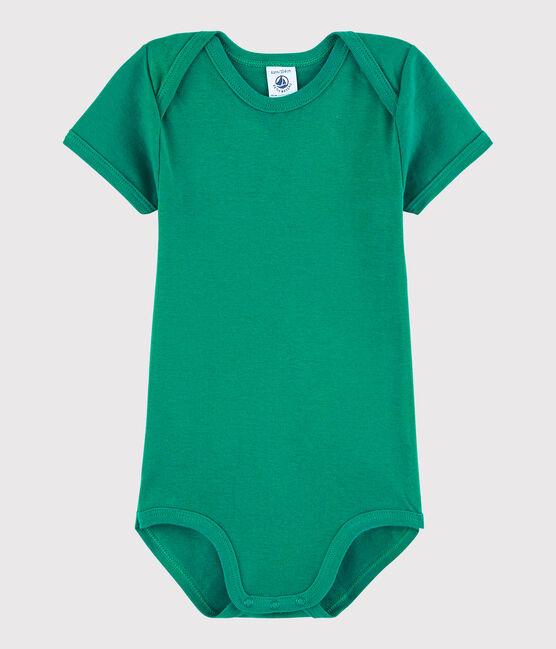 Body manica corta bebè maschietto verde Ecology