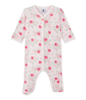 Tutina bebè bambina con stampa floreale