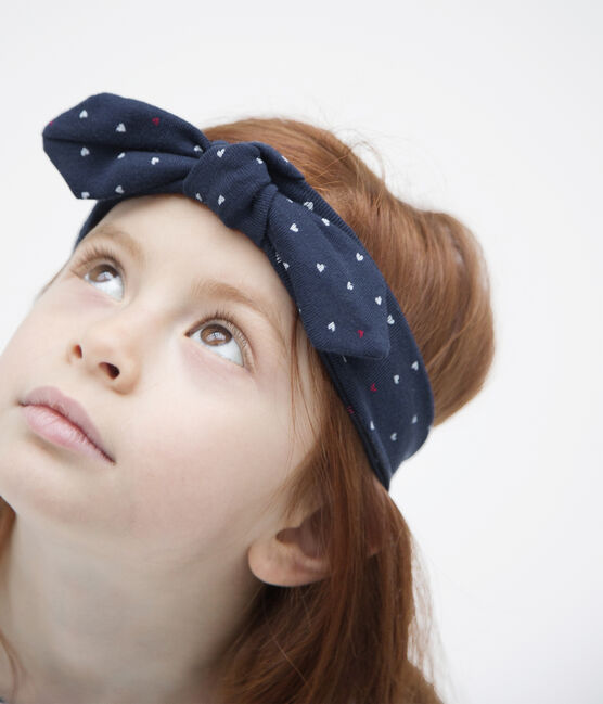 Fascia bambina blu Haddock / bianco Multico