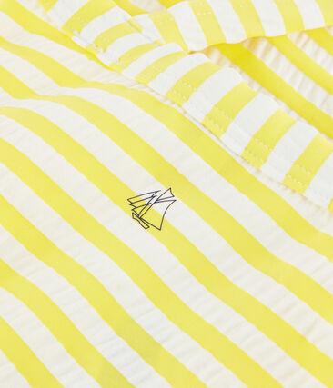 Costume da bagno bambina con protezione solare giallo Eblouis / bianco Marshmallow