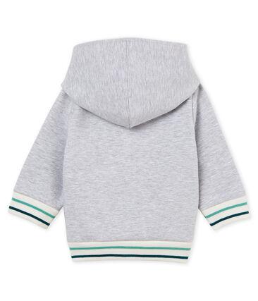 Felpa con cappuccio zippato neonato in molleton