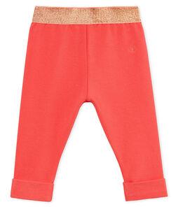 Pantalone neonata in molleton leggero a tinta unita