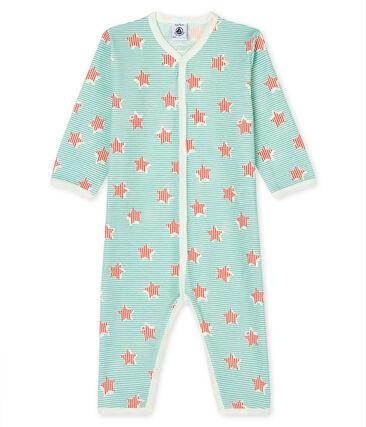 Tutina senza piedi bebè a costine bianco Marshmallow / bianco Multico