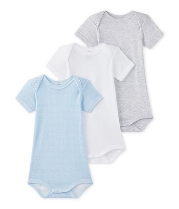 Lotto di 3 bodies per bebé maschio a maniche corte