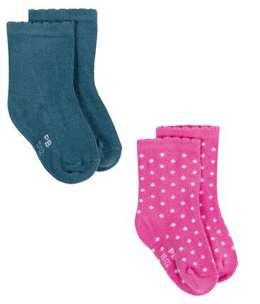Lotto di 2 paia di calze bebé bambina lotto .