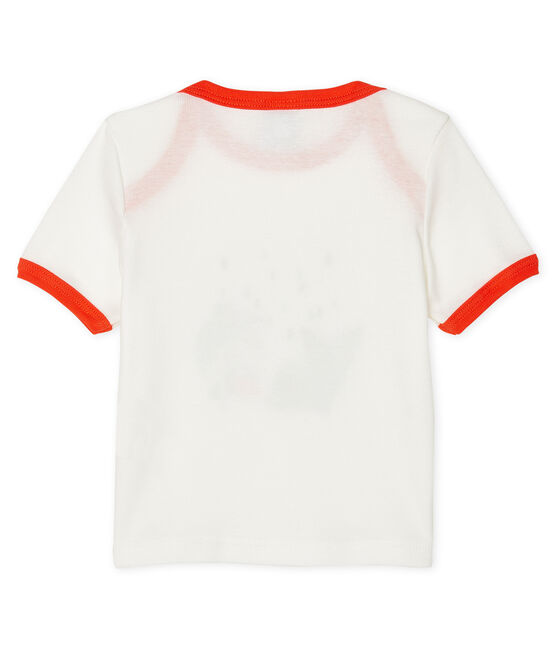 T-shirt maniche corte bebè maschio bianco Marshmallow
