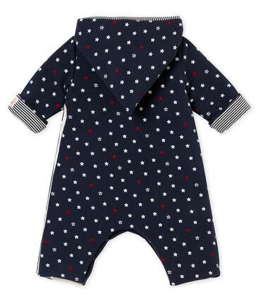 Tutina lunga bebé maschio con stampa di stelle