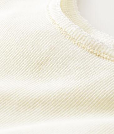 Canottiera donna a costina 2x2 bianco Marshmallow