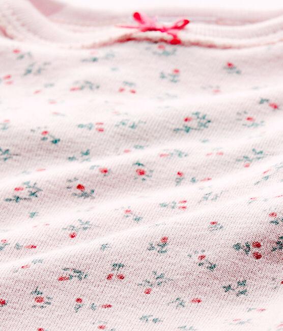 Body per bebé femmina a maniche corte stampato rosa Vienne / bianco Multico