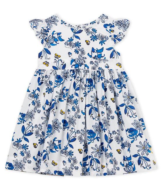 Abito mc fantasia bebè femmina bianco Marshmallow / bianco Multico