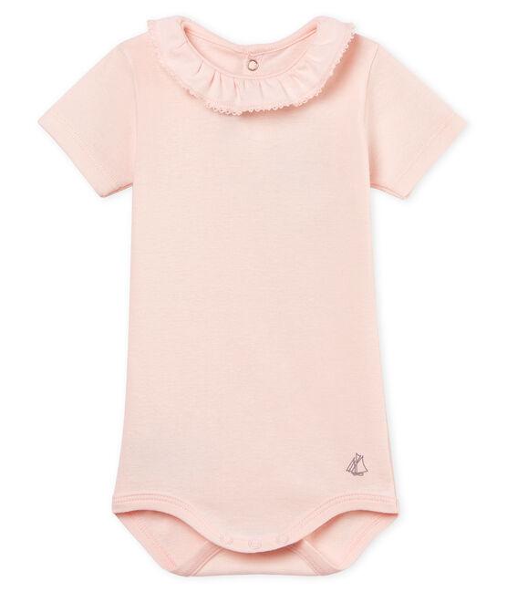 Body mc con collarino neonata rosa Fleur
