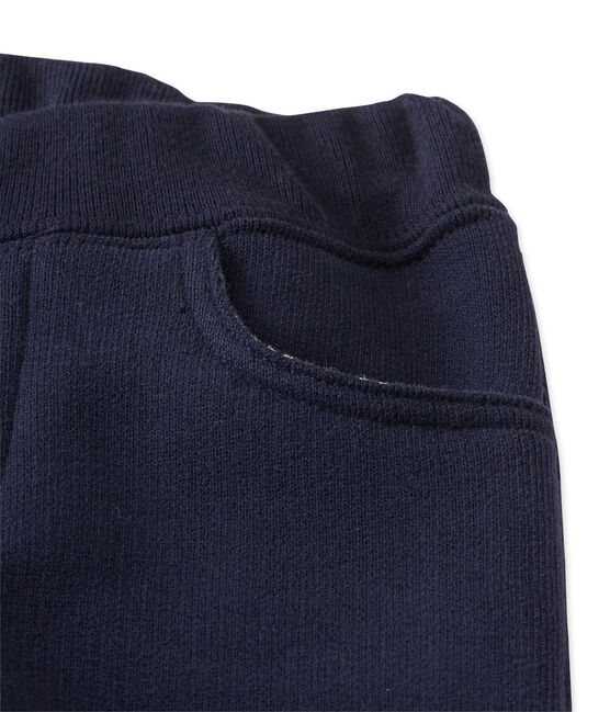 Pantaloni per bebé maschio in molleton blu Smoking