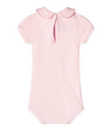 Body per bebè femmina con colletto rosa Vienne