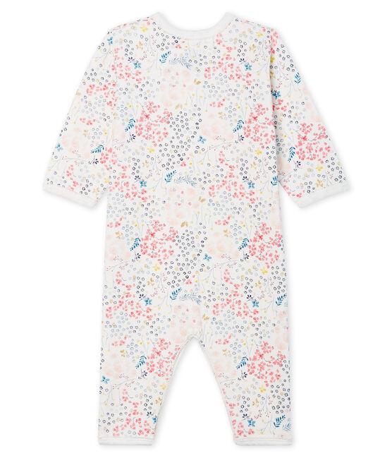 Tutina senza piedi in tubique per bebé femmina bianco Marshmallow / bianco Multico
