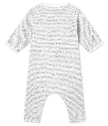 Tutina senza piedini per bebé unisex con body integrato grigio Beluga / bianco Ecume