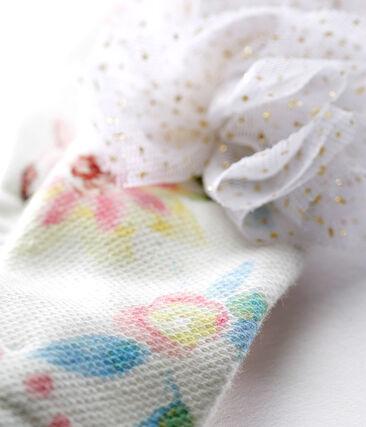 Fascia bebè femmina con pompon