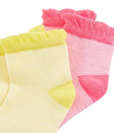 Set di 2 paia di calzini bambina lotto .