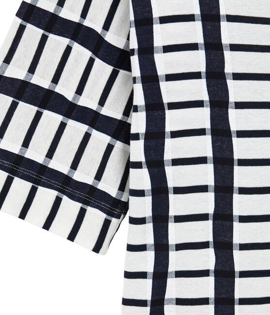 T-shirt kimono bianco Marshmallow / blu Smoking