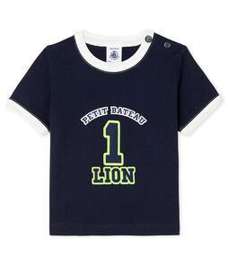 T-shirt maniche corte bebè maschio blu Smoking