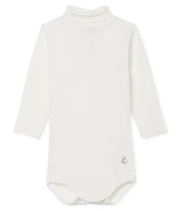 Body manica lunga e dolcevita bebè unisex bianco Marshmallow