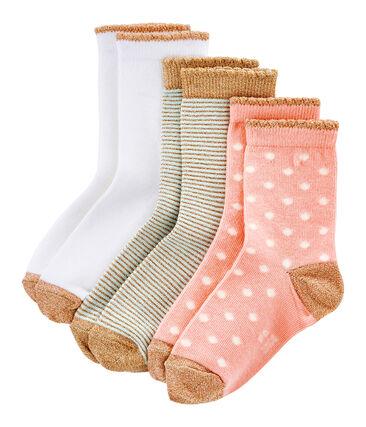 Scatola da 3 paia di calzini bambina lotto .