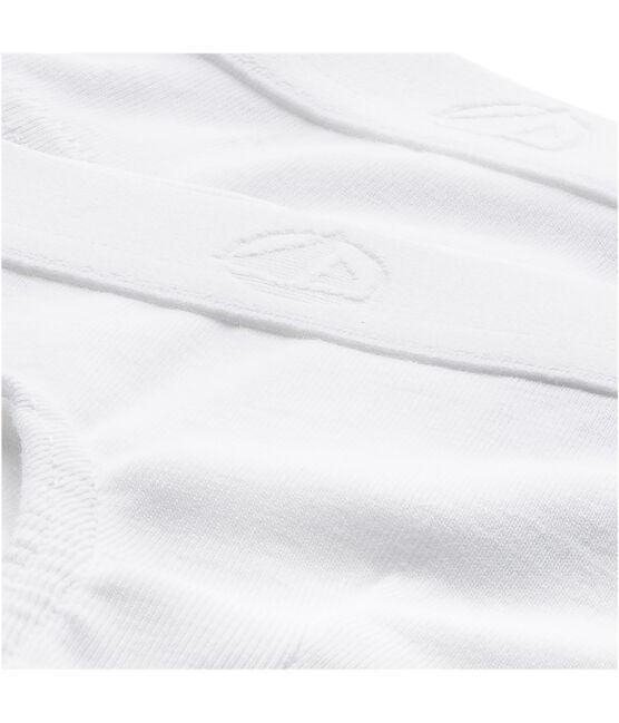 Confezione da 2 slip tinta unita bianchi bambino lotto .