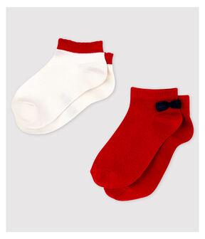 Confezione da 2 paia di calzini bassi bambina lotto .