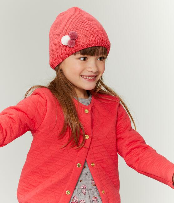 Cardigan bambina rosso Signal