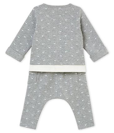 Coordinato tre pezzi stampati bebé maschio