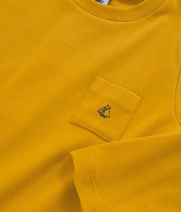 T-shirt maniche lunghe bambino giallo Boudor