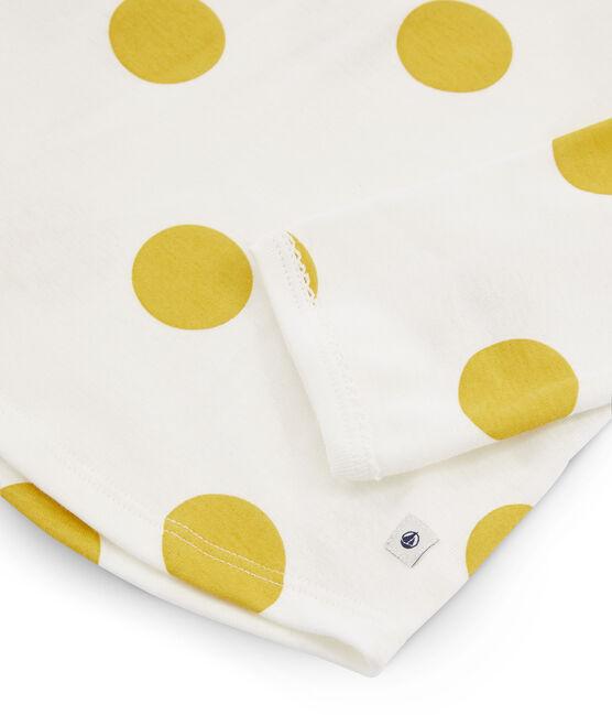 Pigiama bambina a costine bianco Marshmallow / giallo Ble
