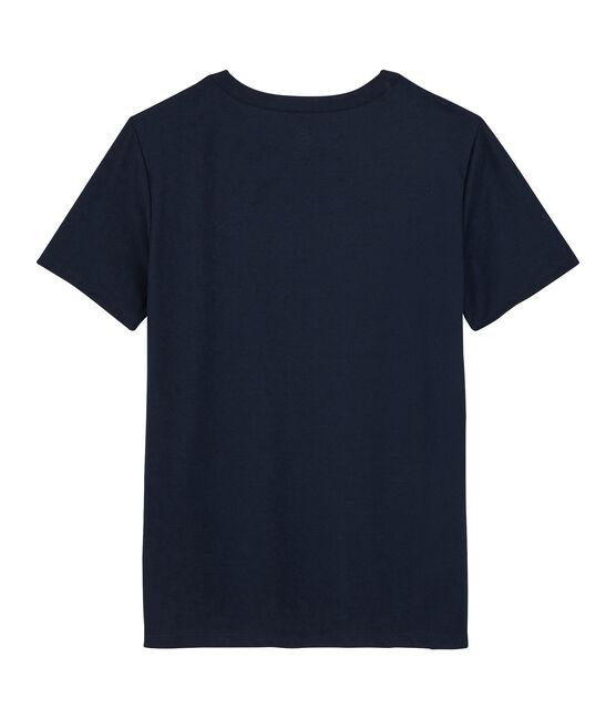 T-shirt in cotone Sea Island donna blu Marine
