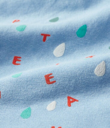 T-shirt maniche corte bebè maschio blu Jasmin