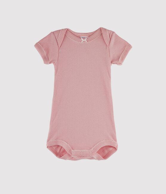 Body manica corta bebè bambina rosa Charme