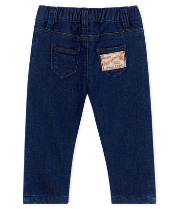 Pantalone bebè unisex maglia effetto denim
