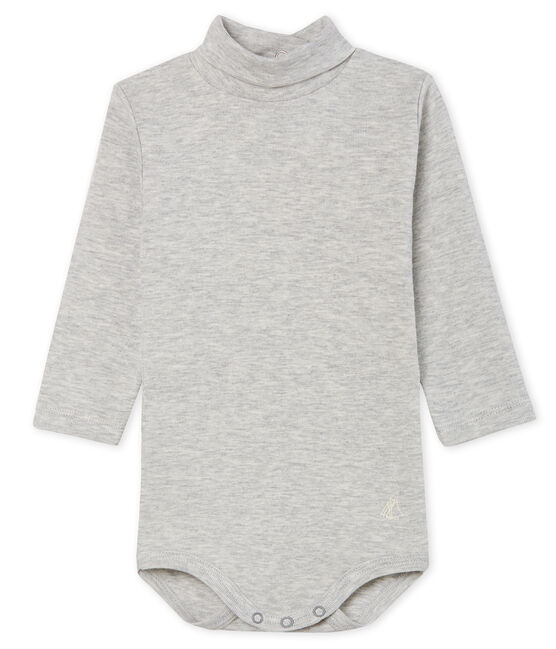 Body manica lunga e dolcevita bebè unisex grigio Beluga