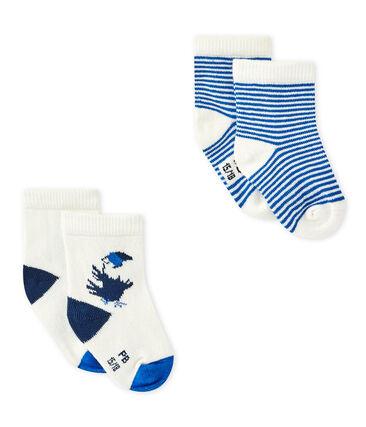 Lotto di 2 paia di calze bebé bambino