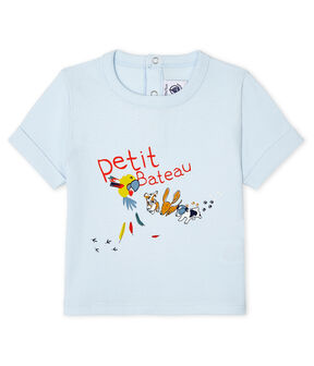 T-shirt maniche corte bebè maschio blu Fraicheur