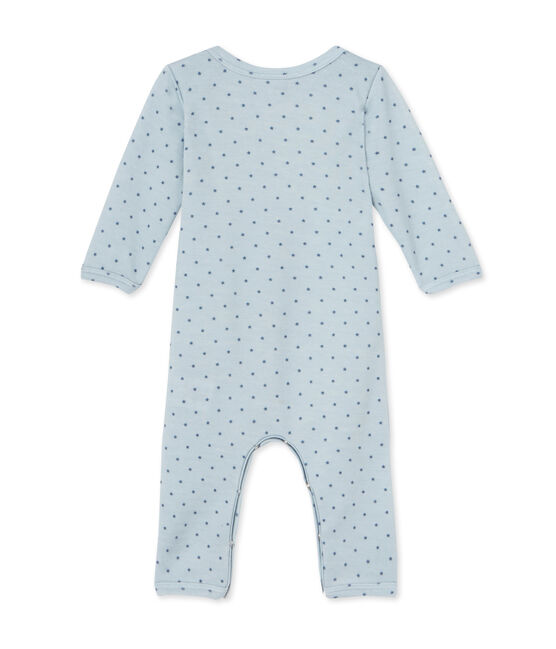 Tutina bebè bambino in lana e cotone blu Fraicheur / grigio Tempete