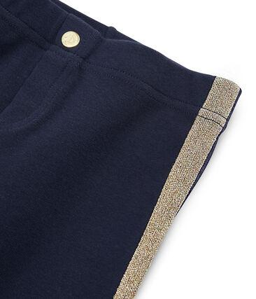 Pantalone in maglia bambina blu Smoking