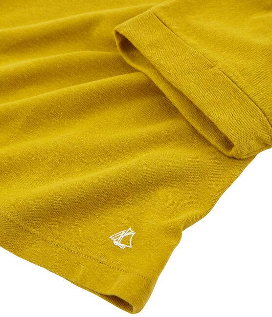 T-shirt a maniche corte bambina giallo Bamboo