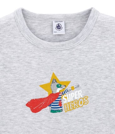 tee-shirta maniche corte bambino grigio Poussiere Chine