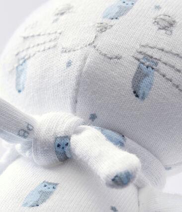 Doudou gattino jersey stampato bianco Marshmallow / bianco Multico