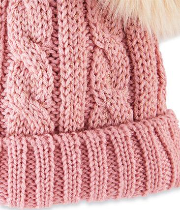 Cappellino bambina rosa Charme / giallo Or