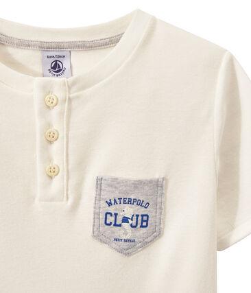 T-shirt bambino con scollo serafino